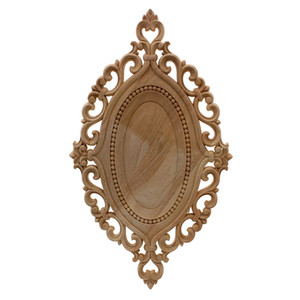 Wholesale furniture wood carving for sale - Group buy VZLX Simple Vintage Wood Carved Decal Corner Onlay Applique Frame Furniture Wall Unpainted For Home Cabinet Door Decor Craft