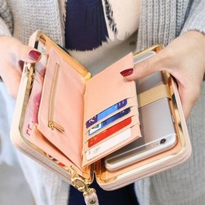 Wholesale 2019 Women Wallet Long Leather Purse Hasp Purses with Strap Phone Card Holders Big Capacity Ladies Wallets Clutch Female Bag