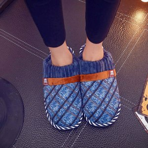 Shoes Men For Indoor Use Fashion Home Slippers Comfortable Hose Shoes Slipper Winter With Fur NA257