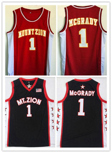Wholesale Vintage Tracy McGrady T MAC High School Basketball Jersey MT Zion Mount Zion Christian NCAA College Tracy McGrady Black Shirts Stitched