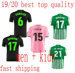 Wholesale adult  kids 2019 2020 FEKIR soccer jersey HOME away 19 20 JOAQUIN MANDI BARTRA CANALES FOOTBALL men youth Jerseys SHIRTS