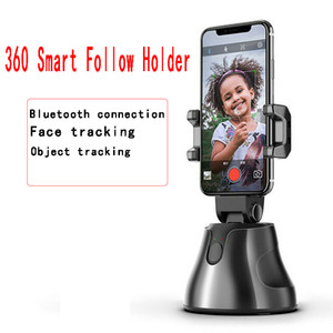 kamera schießt großhandel-Tragbare All in One Auto Smart Shooting Selfie Stick Rotation Auto Face Tracking Object Tracking Vlog Kamera Telefonhalter
