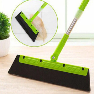 Magic Broom Sweeping Hair Artifact Bathroom Wiper To Scrape The Floor Single Household Mop Broom Toilet Loor Cleaning Tool VT0125 on Sale