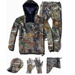 Wholesale waterproof hunting suit resale online - Hunting Clothes Ultra Thin Bionic Camouflage Suit Anti Mosquito Fishing Hunting Clothes Tactical Ghillie Suit Jacket Pants Set for outdoor