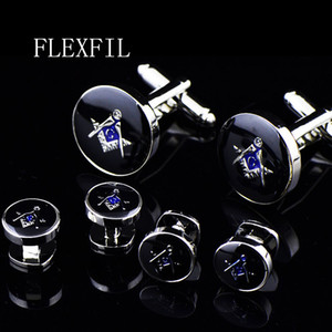 Jewelry shirt Fashion cufflink for men Brand Cuff link round tuxedo Button metal High Quality Luxury Wedding Male Free Shipping