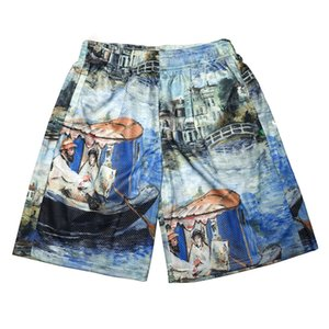 Wholesale FALECTION MENS 19SS SUMMER FASHION OFF LAKE PRINT MESH COTTON SPORTS SHORTS