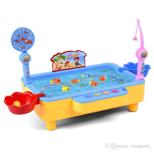 Wholesale Fishing Toys Children s Puzzle Multi Function Parent child House Toys Fishing Daren Electric Fishing Toys Booth Intelligence