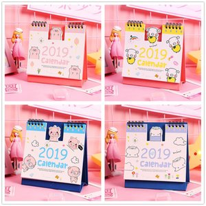 Wholesale 2019 Calendar Table Weekly Planner Monthly Plan To Do List Cartoon Desk Calendar Christmas Decoration For Home Navidad Gift