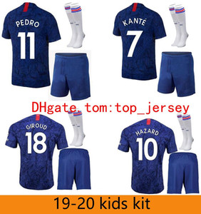 ingrosso david luiz-19 Hazard Soccer Jersey Kit Kit Boys Morata Jorginho Giroud Camicia calcio Kovacic Camiseta Willian David Luiz Barkley Maillot