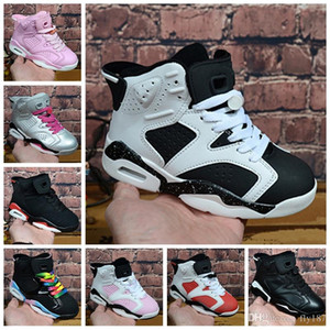2020 New big boys' 11S basketball shoes and 6S boys' and girls' suede sports casual shoes size 28-35. Wholesale and retail, f
