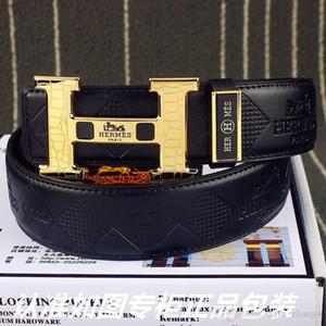 2019 1s fashion luxury men and women belt 24K pure steel buckle men's casual sports belt comfortable luxury generous Width 3.8cm M4032