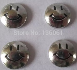 Wholesale Vintage Silver Enamel Smile Alloy Floating Metal Charms DIY For Owl Floating Memory Lockets Necklace Jewelry