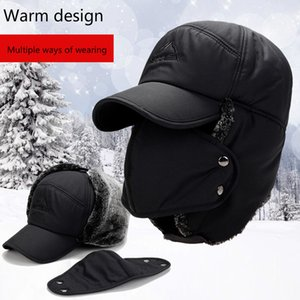 Winter new Lei Feng hat thickening earmuffs cotton hat outdoor dad hat male adjustable on Sale