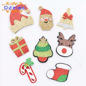 Wholesale cane props for sale - Group buy 24Pcs Santa Claus Cane Christmas Tree Hat Bell Elk Stocking Gift Box Christmas Headbands Ornament Patches Xmas Party Props Decor