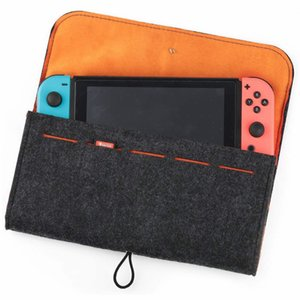 Wholesale Wool Felt Case For Nintendo Switch with Game Cards Large Capacity Protective Divide layered Case Traveling Carrying Shockproof Cover