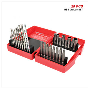 Wholesale free drill bits resale online - Wholesales TOOLMAN Multi Hss purpose Drill Bit Set for Wood Masonry Plating Manonry