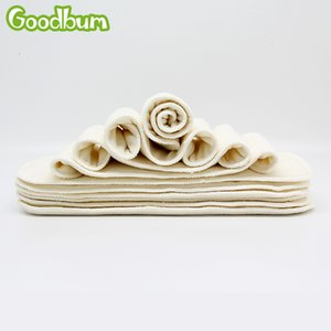 Wholesale 10pcs 4 Layers Bamboo Fiber Diaper Insert Reusable Super Soft Baby Nappy Insert 35x13cm For Cloth Diaper&Covers