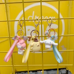 Wholesale Pudding Dog Keychain My Melody Big Eye Frog Key chain Pendant for Men s And Women s Wallets Creative Gifts For Children Key ring