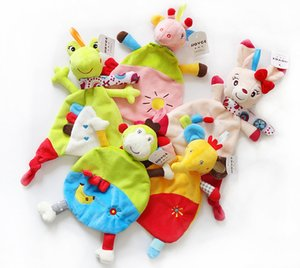 Wholesale 5Style Newborn Infant Baby Soft Towel Soft Skin Deer Cat Frog Monkey Elephant Comfort Appease Plush Rattles Toy Animals Comforting Blanke C2