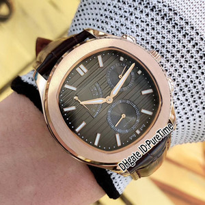 cravate textures achat en gros de-news_sitemap_homeNoir Cravate G0A33018 mm Réserve d alimentation automatique Mens Homme Montre Rose Grey Grey Texture Texture Brown LeatHe Strap Montres Puretime E07H8