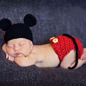 Wholesale hotography props Newborn Photography Props Baby Hat Girls Boys Cap Crochet Knit Costume Outfits Newborn Photograft Clothes Baby Photo Acc