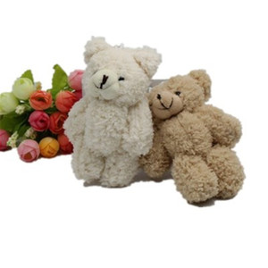 Kawaii Small Jointed Teddy Bears Stuffed Plush With Chain 12CM Toy Teddy-Bear Mini Bear Ted Bears Plush Toys Gifts Christmas gift K0295