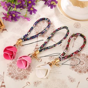 Beautiful Universal Flower Wrist Neck Strap Lanyard U Disk Holder ID Work Card Mobile Cell Phone Chain Straps Keychain Hang Rope