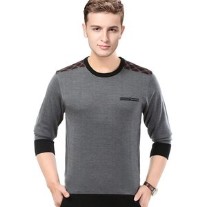 New arrival 2018 autumn male plaid sweater jumper pullovers mens long sleeve fashion striped knit shirt long on Sale