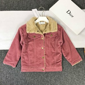 Wholesale Boy jacket children designer clothing 2019 autumn and winter new minimalist style solid color coat single-breasted design boy warm top