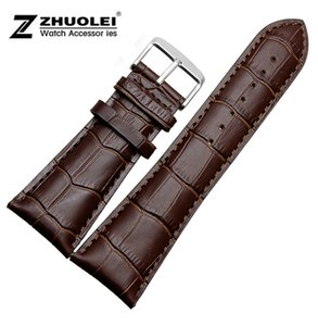 Wholesale For men Big width Watch band mm mm mm mm mm NEW Brown Genuine Leather Watch BANDS Straps