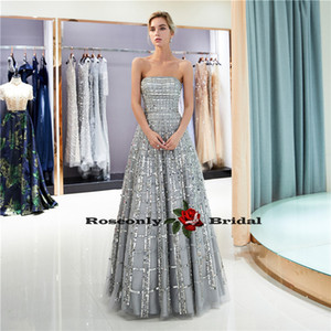 New arrived shine bling bling ball gown evening dress LF-007 Long Party Dress Dark GREY vestido evening gown on Sale