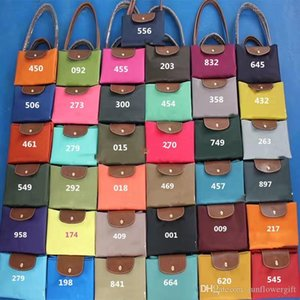 New fashion color female Korean new satchel nylon Oxford leisure trend shoulder bag with leather handle 37colors choose on Sale