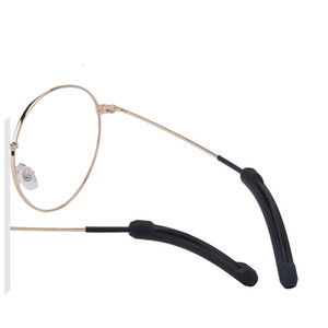 ingrosso occhiali da sole rimovibile-Supporto per occhiali da sole antiscivolo in silicone morbido riutilizzabile per occhiali per occhiali rimovibile Cover Pure Colour Eyeglass Decor Accessori moda