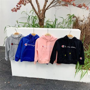 Wholesale Autumn Childrens Brand Sweater Hoodies Junior Boys Girls Hooded Pullover Kids Clothing Sports Sweatshirts Printed Champion Sweater B81202