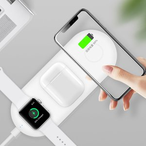 QI Wireless Charger base AirPower mat For iPhone X 8plus XR XS Max Apple AirPods Watch 3 2 4 Quick wireless Charging Pad S8 S9