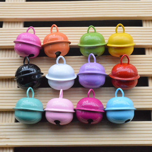 Wholesale 6PCS Candy Color Painted MM Metal Small Bell Christmas Bells Mix Colors Beads Small Jingle Bells Christmas Decoration Gift