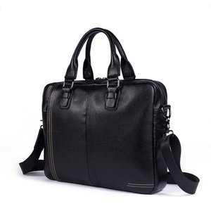 Wholesale Fashion Travel Bags Briefcase Laptop Bag Cow Leather Multifunction Waterproof Handbags Business Portfolios Man Shoulder Bags