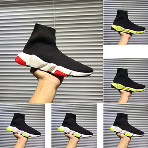 best quality speed trainer black designer men's and women's black red casual shoes fashion socks casual shoes jacket boots size 34-45
