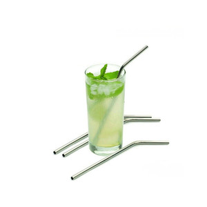 8 10 Inches Steel Straws Straight Drinking Straw Bent Stainless Steel Straws Reusable Drinking Straw Drinking For Bar Party