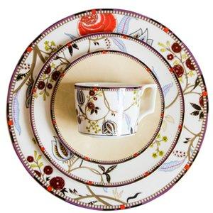 Wholesale European Coffee Cup Plate Set Pieces set Western Union Wedding Gift Coffee Cup Saucer Salad Plate Fashion Afternoon Tea