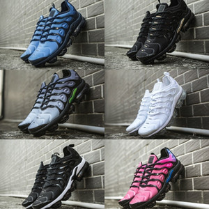 Wholesale 2019 New Tn Plus Shoes USA Grape White Blue Men Women Running Fashion Casual Triple Black Trainer Requin Air Tn Cushion Sneakers