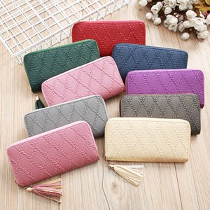 Wholesale 2019 new wallet fashion brand zipper long wallet Europe and America high quality handbag classic