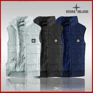 Men's youth vest with stand collar and thick vest shoulder casual warm jacket men's wear