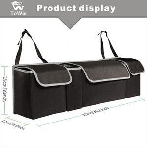 Auto Back Seat Organizer Simple Big Capacity Storage Box SUV, Auto, Vehicle, Family, Travel and Camp Stowing Tidying Bag