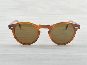 Gregory Peck Brand Designer 45mm 47mm men women Sunglasses oliver Vintage Polarized sunglasses peoples OV5186 retro Sun glasses OV 5186