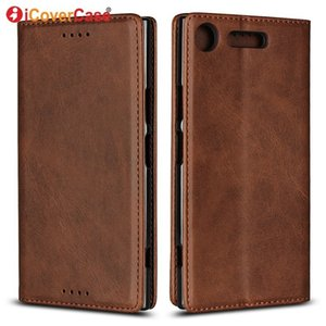 Wholesale Magnetic Cases For Sony Xperia Xz1 Compact Leather Wallet For Sony Xz1 Xz1 Compact Flip Case Mobile Phone Accessory Coque Etui T190710