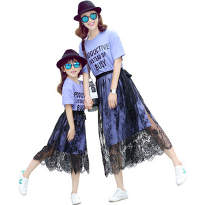 Summer Mother Daughter Dresses Casual dress Family Matching Clothes Mom And Daughter