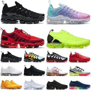 große größe schuhe im freien großhandel-VAPORMAX PLUS TN GROSSE GRÖSSE stock x off white Outdoor Schuhe HIGH QUALITY Herren Damen Designer Sneaker Pastel Racer Running Speed Trainer