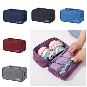 Portable Bra Underwear Storage Bag Waterproof Travel Socks Cosmetics Drawer Organizer Wardrobe Bag Organizer CCA11860 100pcs