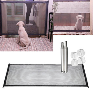 Wholesale fencing gate resale online - Dog Fences Magic Gate Portable Folding Safety Guard For Pets Dog Cat Isolated Gauze Home Door Pet Isolated Network
